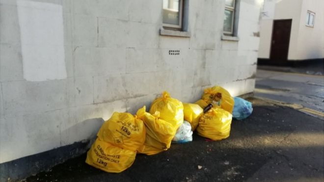 Clinical waste sacks found in Swindon street