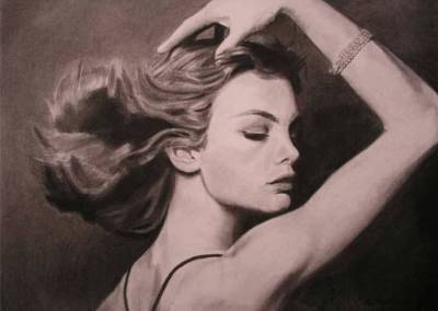 David Bailey Photo Charcoal Reproduction