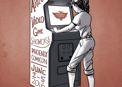 2016 Arizona Video Game Showcase Illustration