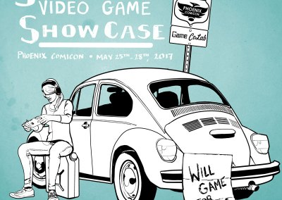 Game CoLab 2017 Southwest Video Game Showcase Illustration