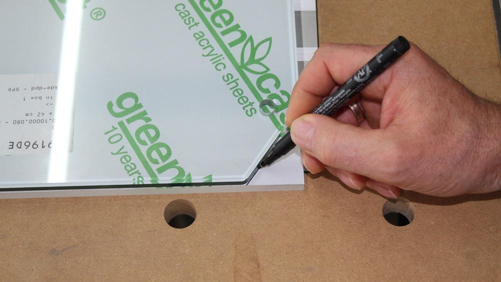 Druckergehäuse Tür Plexiglas