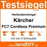 Testsiegel Kärcher FC7 Cordless Premium