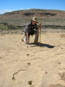 Pole-holes whose shadows would act like a solstice sundial (click to enlarge).