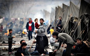 Syrian refugee camp (click to enlarge or to source, then back-arrow to return to blog).