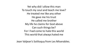 Jean Valjean Soliloquy BEST