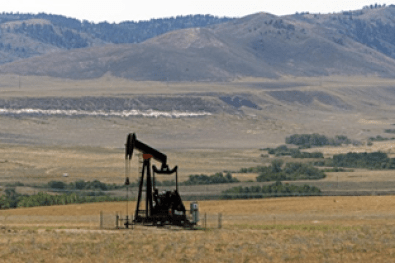 Horsehead pump oil well Wyoming USA
