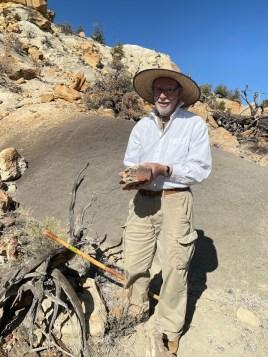 Ian Dexter Palmer found petrified wood