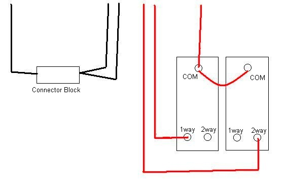 wiring diagram 2 gang way light switch double  1978 dodge