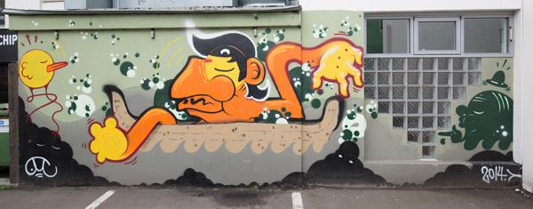 Street art in Akureyri Iceland
