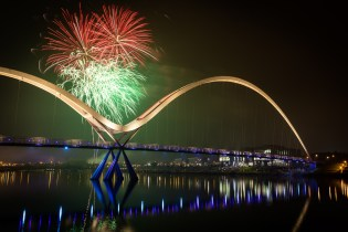 Fireworks over Stockton upon Tees