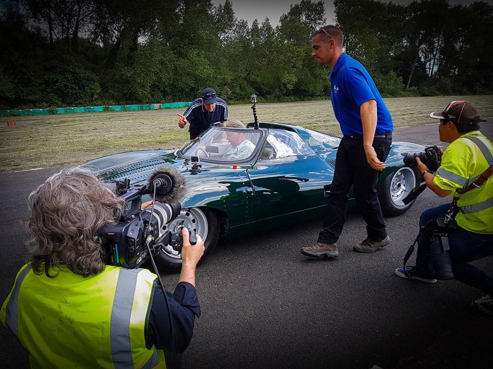 20160809_114508 Neville Swales' recreation of the jaguar XJ13, in great shape