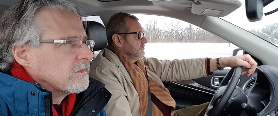 The Day the music Died documentary on the road between locations Ian McCann with John Cumberland and Glasshouse Media