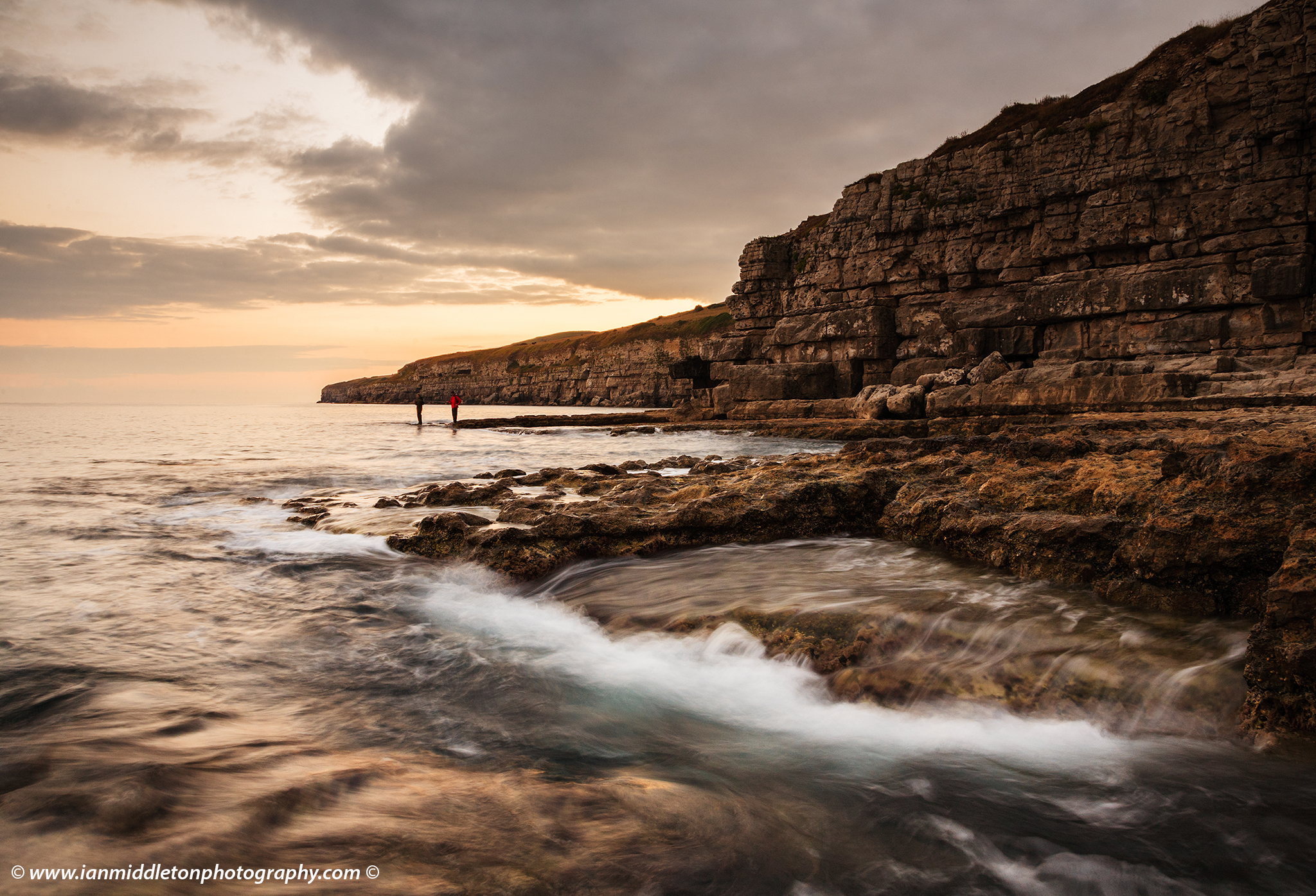 Seacombe Bay and Cliffs on the Jurassic Coast in Dorset, England. Seacombe Bay is one of the many stunning locations to visit on the Jurassic coast, a UNESCO World Heritage Site in southern England
