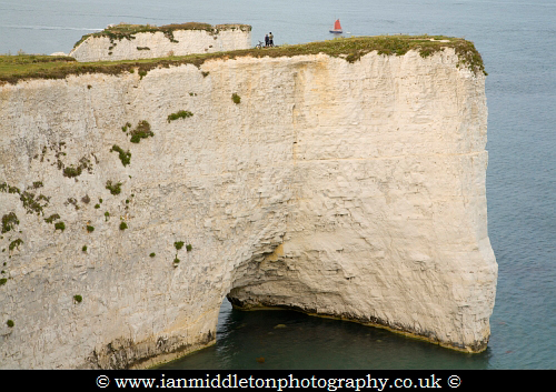 The Pinnacles at Old Harry Rocks, Jurassic Coast, Dorset, England. A UNESCO World Heritage Site