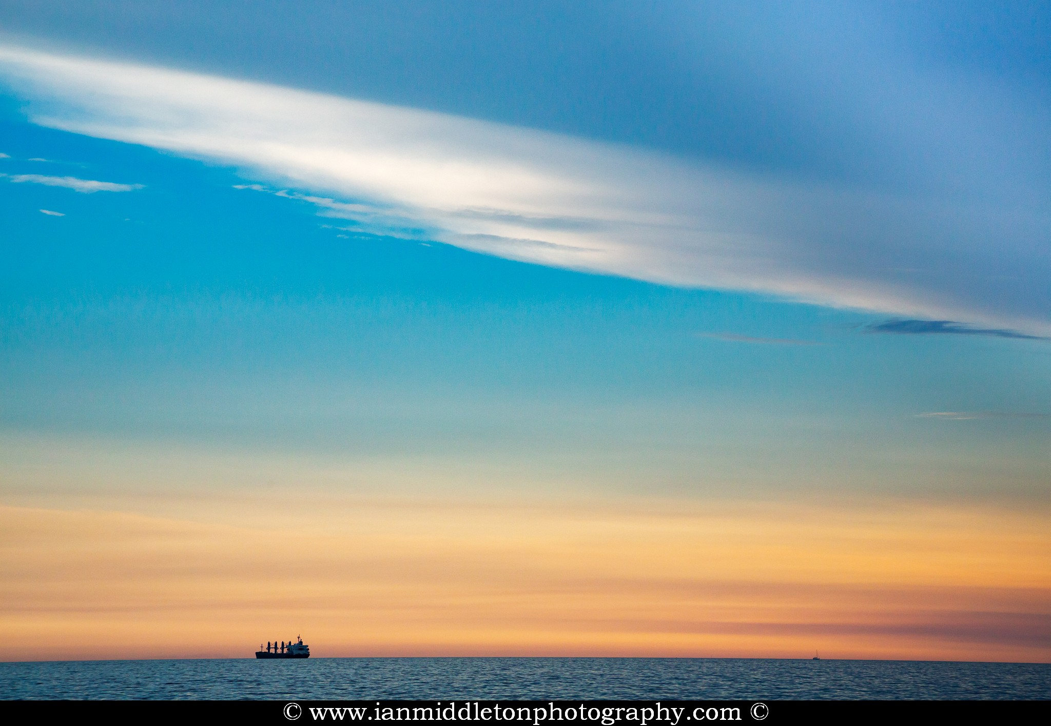 Cargo ship entering trieste Bay, Italy.