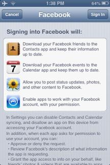 Facebook Access Notice