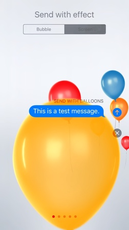 Balloons Screen Effect