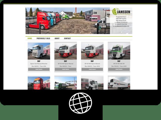 Janssen Trucks – website