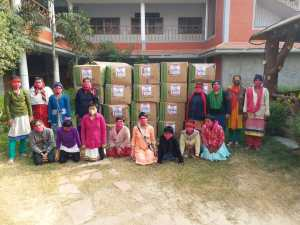 Manthan Girls with Donations