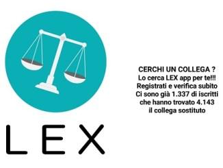 LEX - un'app gratuita per trovare un sostituto d'udienza.