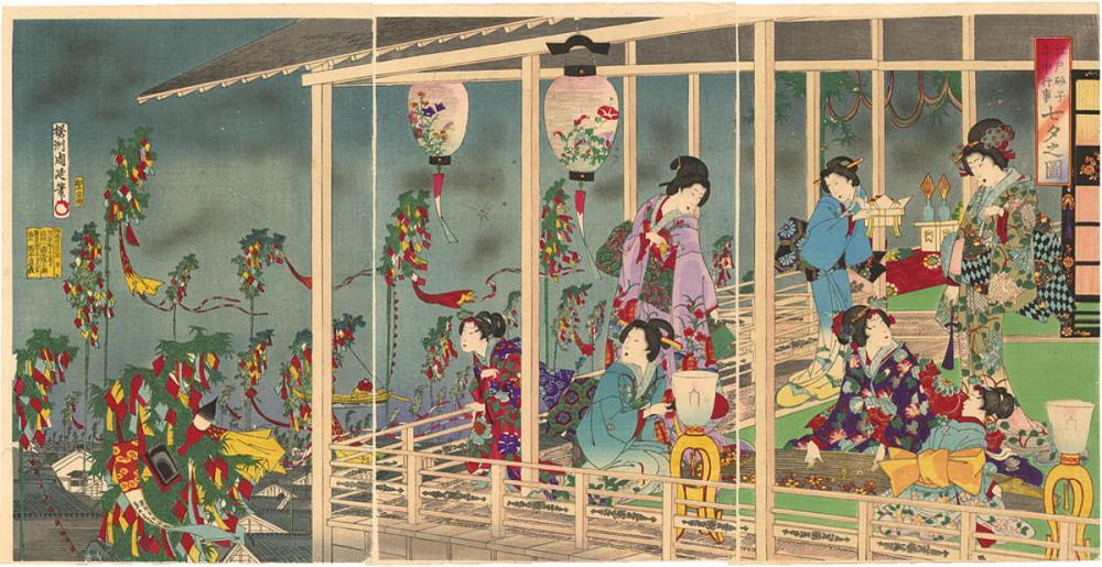 «Ταναμπάτα». Έργο του Toγιοχάρα Τσικανόμπου 豊原周延 (1838–1912)