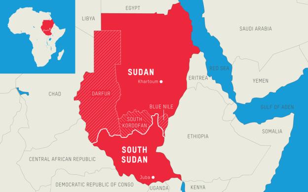 Sudan Crisis Darfur map upsc ias