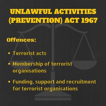 Unlawful activities prevention act uapa amendment bill upsc ias essay gk notes mindmap