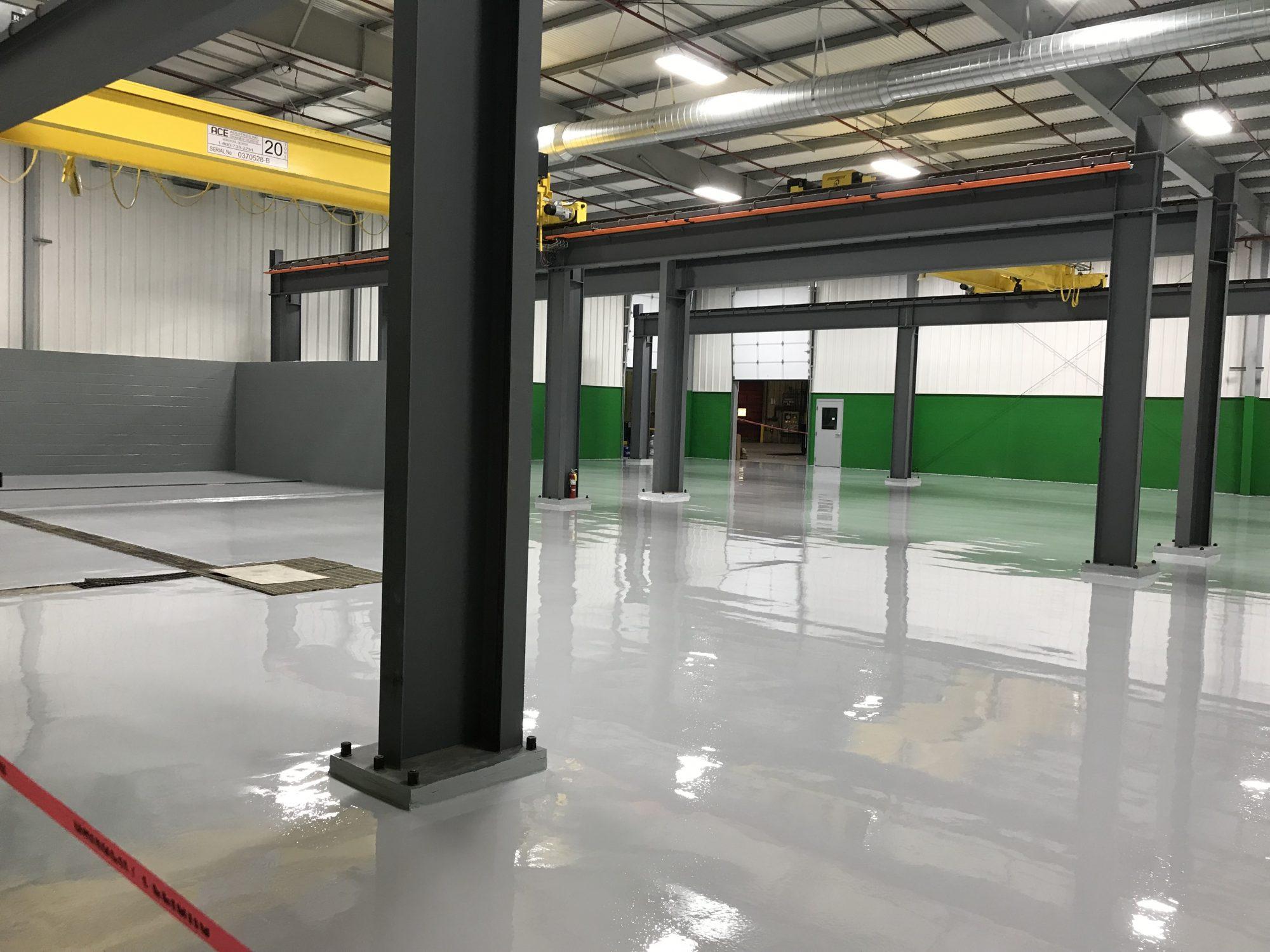 epoxy mortar, concrete floor, resinous coating, urethane topcoat, manufacturing floors, industrial floors
