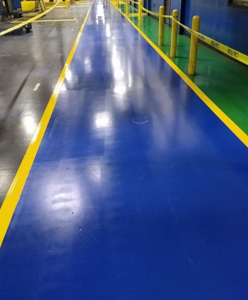safety aisles, 5S, epoxy floor coatings, industrial floor coatings, safety striping, epoxy floor striping