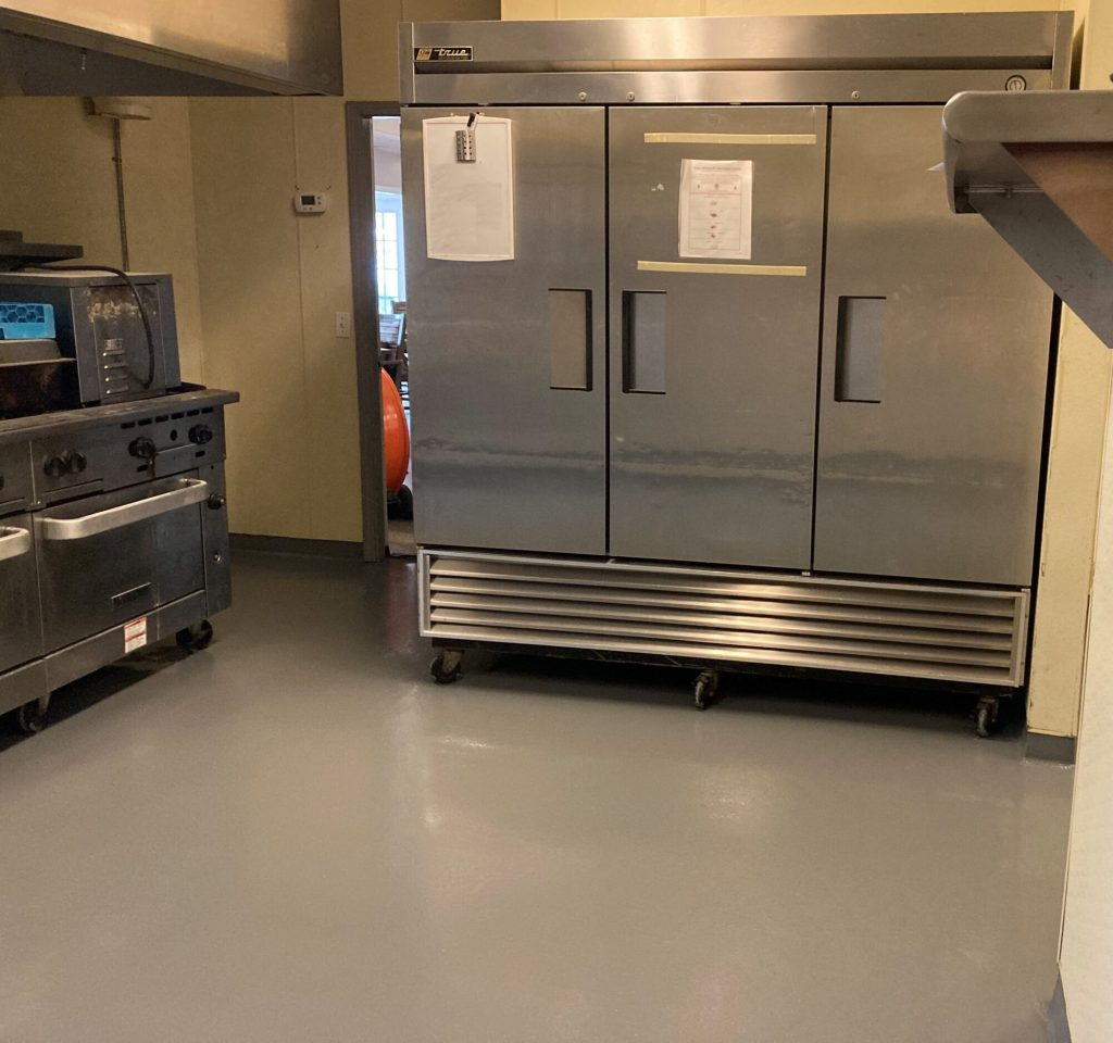 Urethane concrete, Urethane cement, commercial kitchen, commercial kitchen flooring, epoxy floors BowlingGreenKY, TeamIA, Industrial Applications Inc., IA30yrs, Bowling Green KY