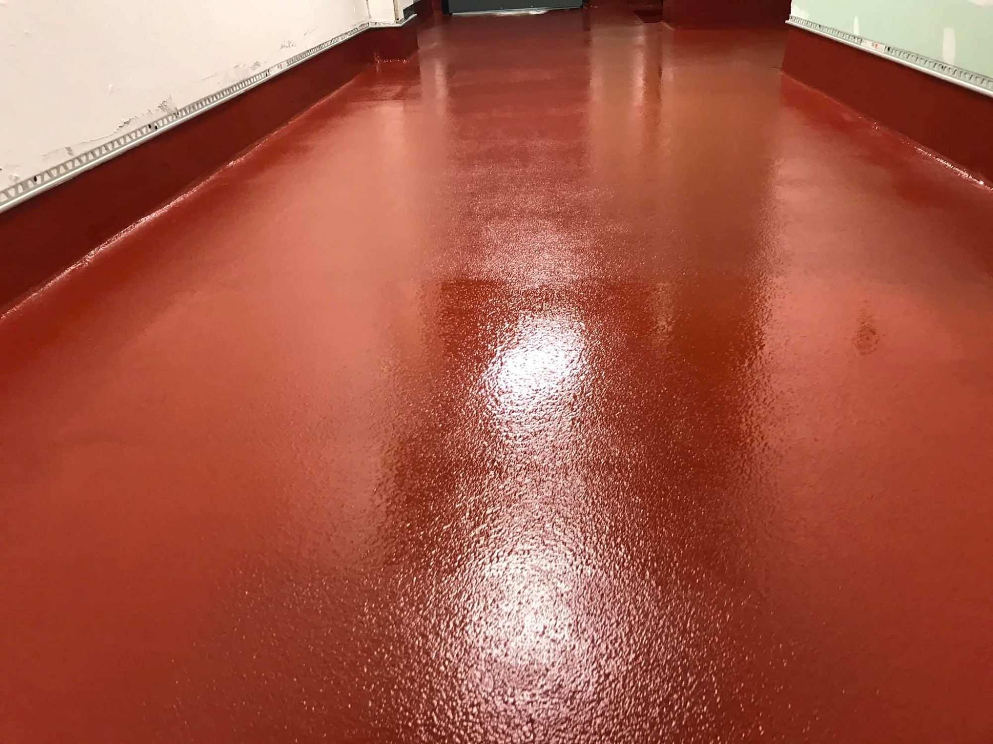 Commerical kitchen, remove quarry tile, replace with urethane concrete, urethane concrete, best commerical kitchen flooring solution