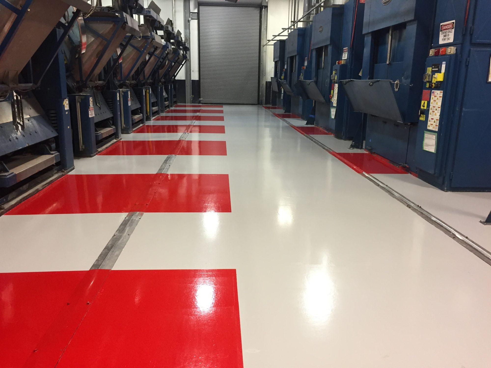 5S safety markings, epoxy floor coatings, safety floor markings