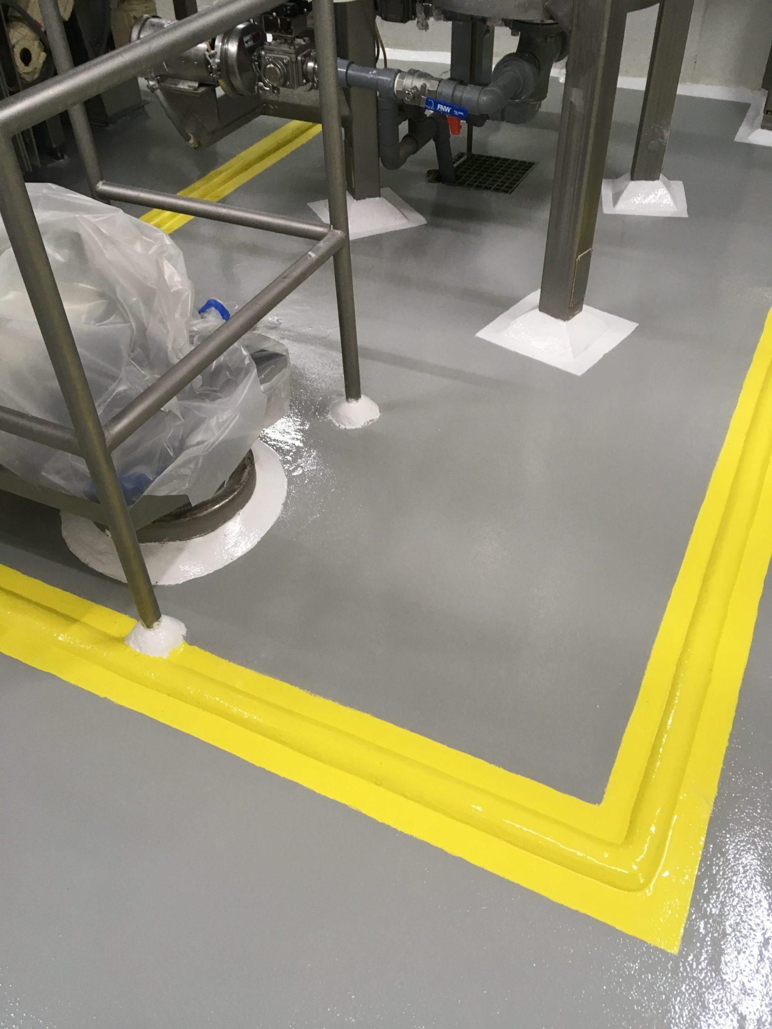 epoxy floor coating, concrete floor coatings, food and beverage floor coatings, USDA floor coatings, line striping, epoxy line striping