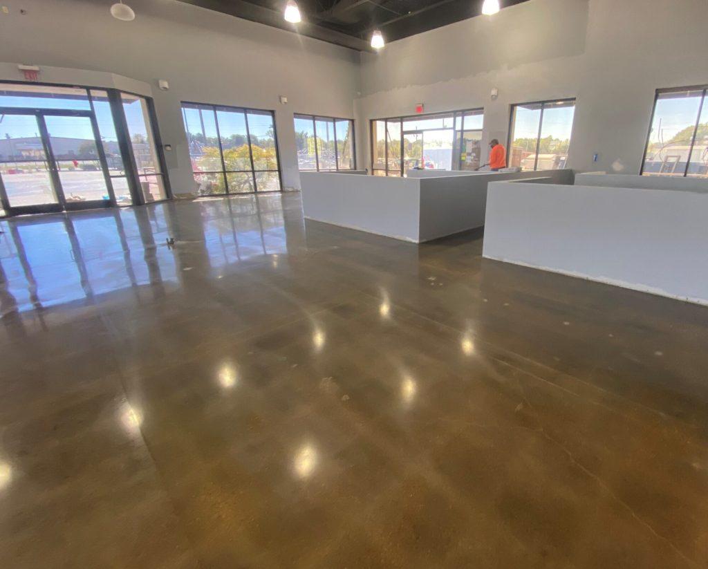 Concrete floor coatings, epoxy floor coatings, epoxy coatings, Industrial Applications Inc, TeamIA, epoxy floor coating, auto dealership flooring, car dealership floors, auto dealership epoxy floors
