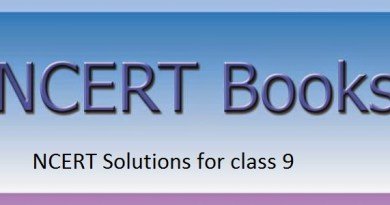 NCERT Solutions for class 9
