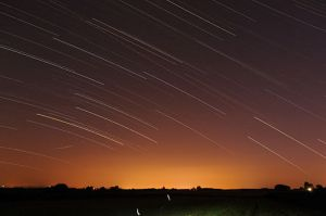 Example of star trails