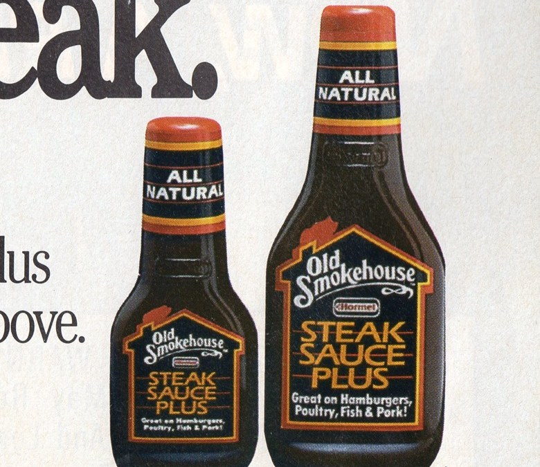 Old Smokehouse Steak Sauce Plus, 1988–80's Product Rewind