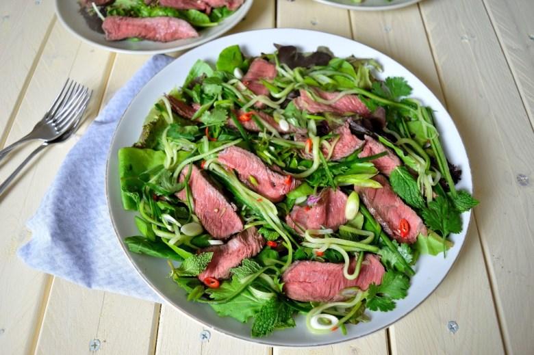 asian steak salad 2