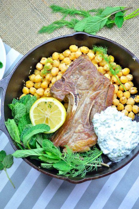 lamb tzatziki chickpeas 2