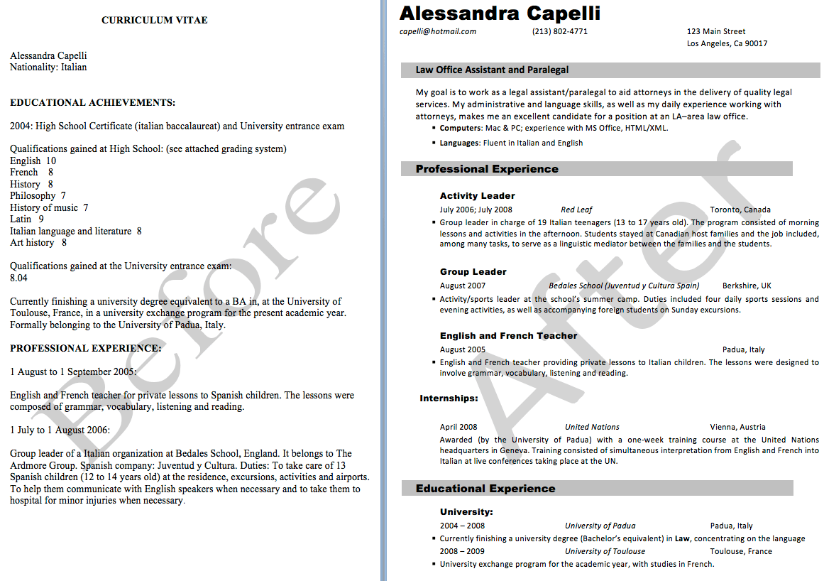 Resume Cv Template Examples Page 10 Resume Cvs