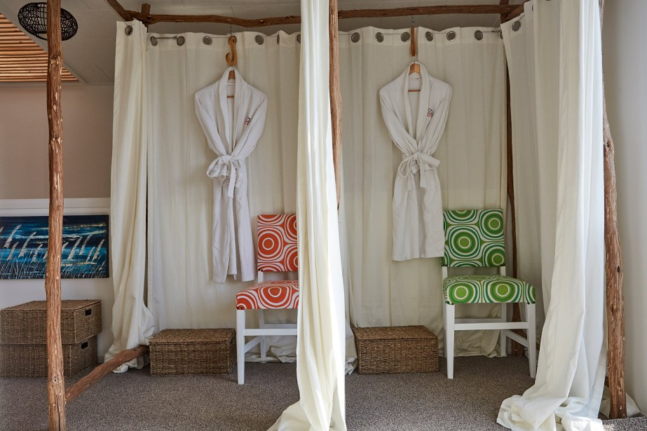 The changing rooms in the relaxation room