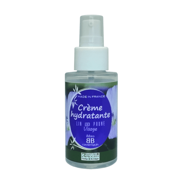 Crème hydratante, peaux normales à mixtes. Lin et Prune – 50ml