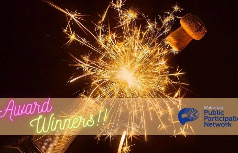 Champagne bottle with fireworks for IBCP award winners
