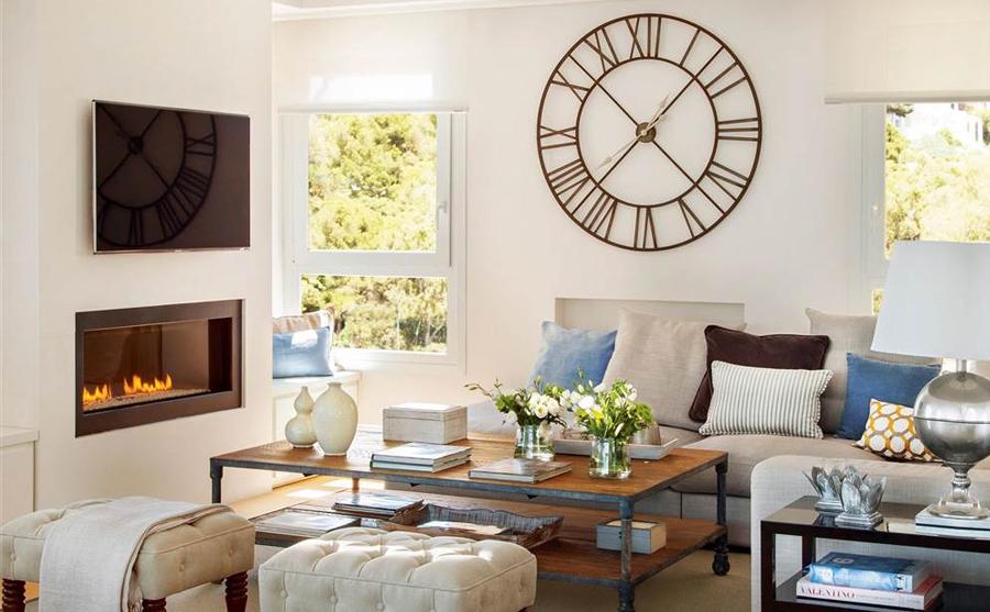 Ideas para decorar pared - Relojes