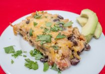 This vegetarian Mexican casserole recipe is easy, flavorful, and filling