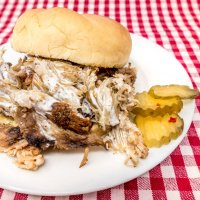 Slow Cooker Pulled Pork with Alabama White BBQ Sauce