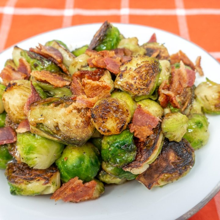 Brussels Sprouts with Bacon and Balsamic Vinaigrette