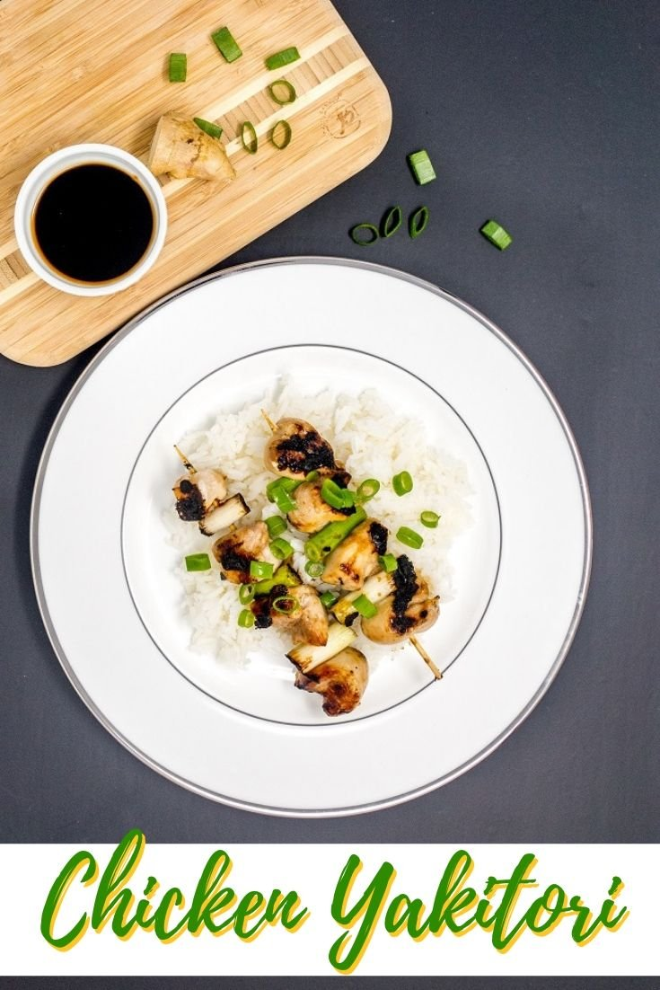 Lunch or dinner doesn't get better than this chicken yakitori recipe with homemade yakitori sauce
