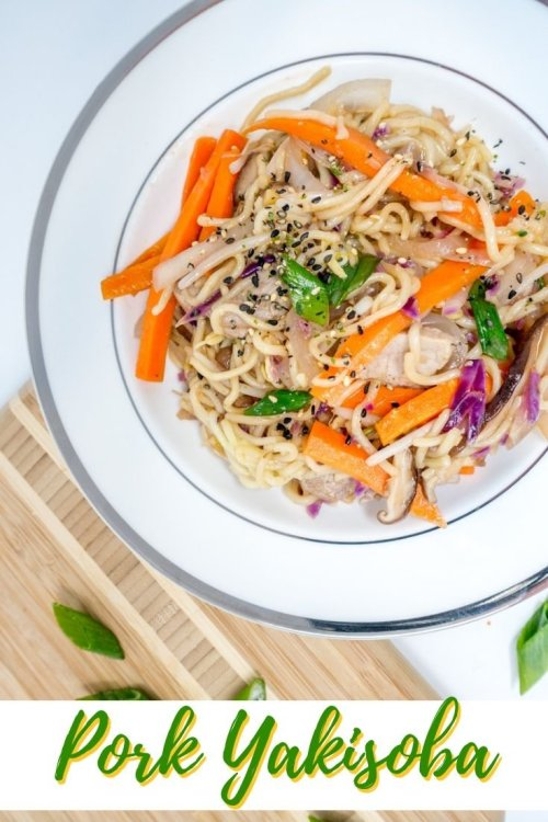 Yakisoba is a popular Japanese noodle stir-fry that's easy to make at home. Our yakisoba recipe is loaded with fresh vegetables and homemade sauce.
