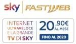 SKY & FASTWEB NEWS : La TV di Sky e la fibra di Fastweb a 20,90 Euro al mese!